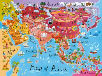 Asia map, floor puzzle