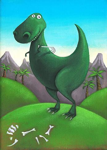 Dino back-scratch