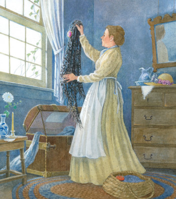 Anne of Green Gables, 'She fetched her torn shawl.