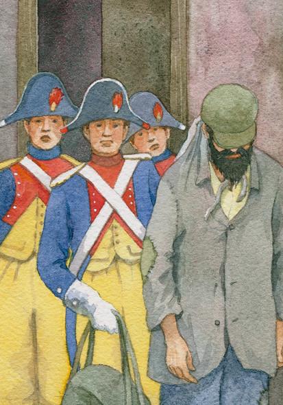 Les Miserables, Jean Valjean arrested