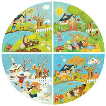 Seasons jigsaw puzzle for Headu educational toy co