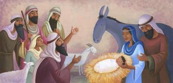 Shepherds Nativity scene