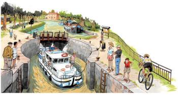 Boat in the 'canal du midi'