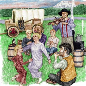 Illustration from Oregon, At Last!