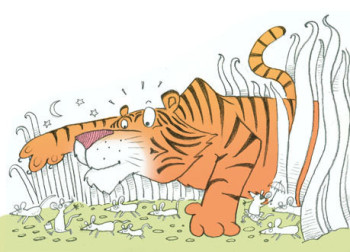 Tiger and the mice
