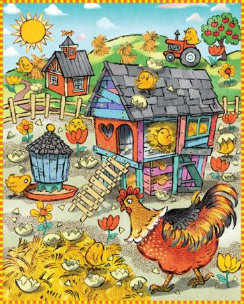 Chickens in the Farmyard