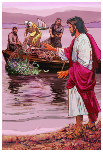 jesus and fishermen