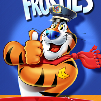 Tony Tiger airport plane packaging