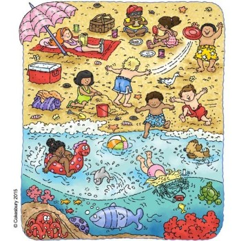 Find Red Things on Beach Game