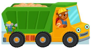 Dump truck, book cover