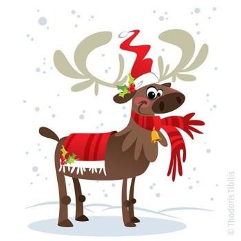 Christmas' reindeer Santa Claus