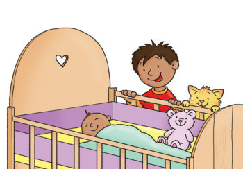 Spread from Ben and the Baby: Hinkler education