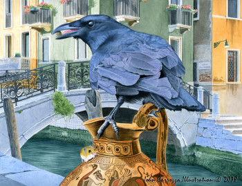 The Crow and the Pitcher, Aesop