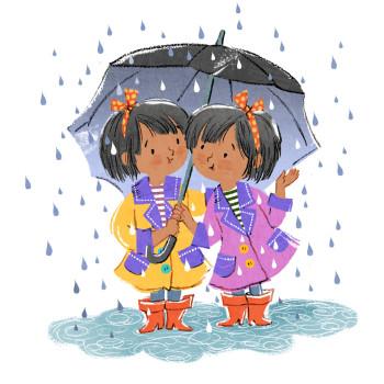 Twins In the Rain