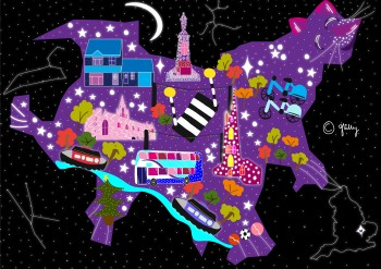 Midnight Magical Map