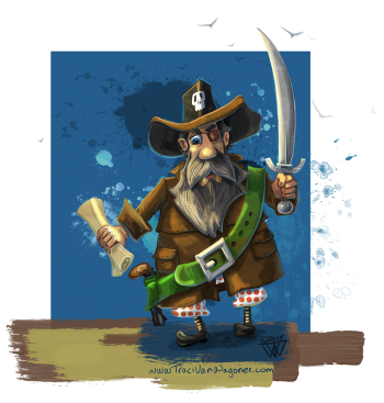 Cowboy Pirate Missing in Bloomers