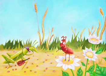 Grasshopper and Ant - summer