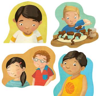 Discovery House –Spot illustrations of kids' emot