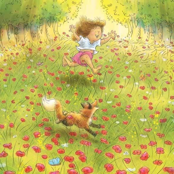 Foxy & Roxy in Flowery Meadow