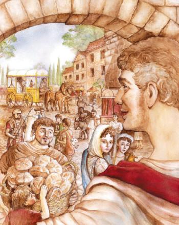 Roman family at the Porta Capena