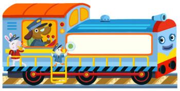 Animal train, book cover