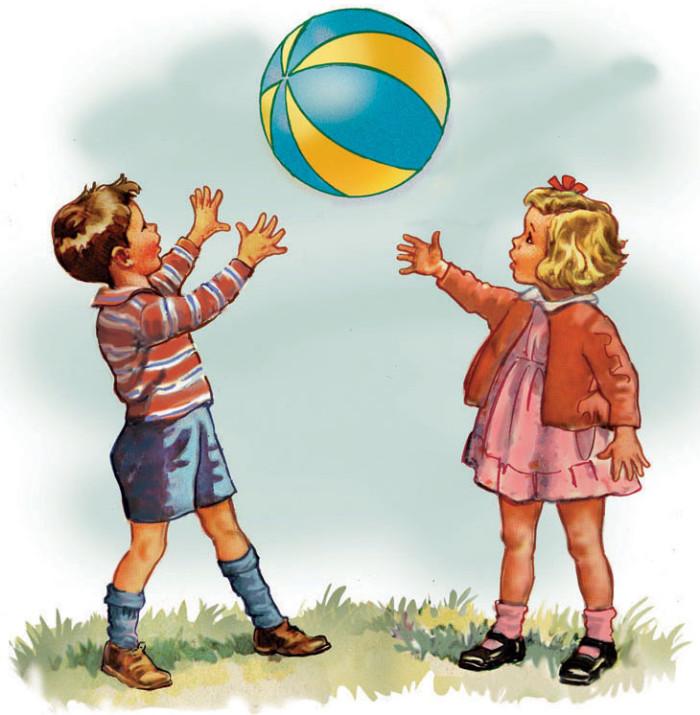 Dick an Jane play ball