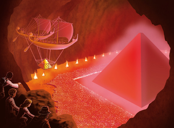 The Red Pyramid. From the 'Kane Chronicles Surviva