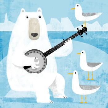 Mr Polar Bear plays Banjo