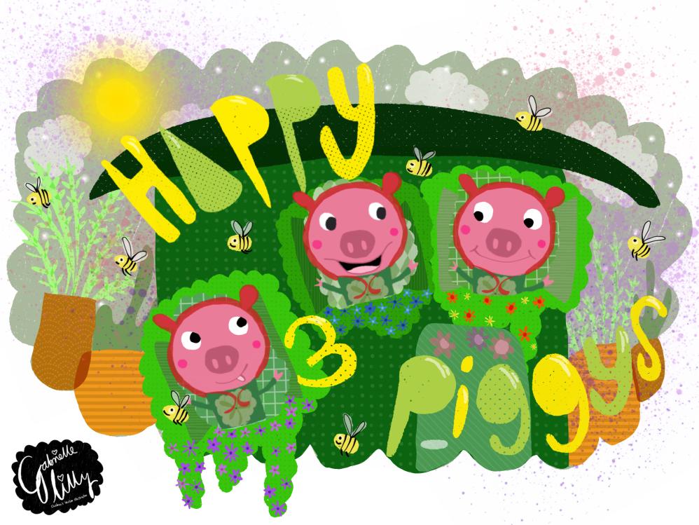 Happy lil piggy's